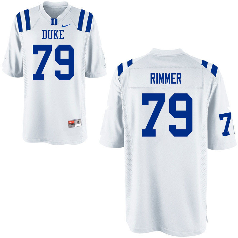 Men #79 Jacob Rimmer Duke Blue Devils College Football Jerseys Sale-White