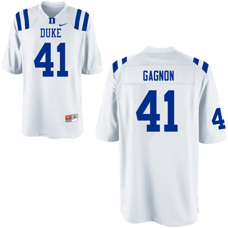Youth #41 Xander Gagnon Duke Blue Devils College Football Jerseys Sale-White